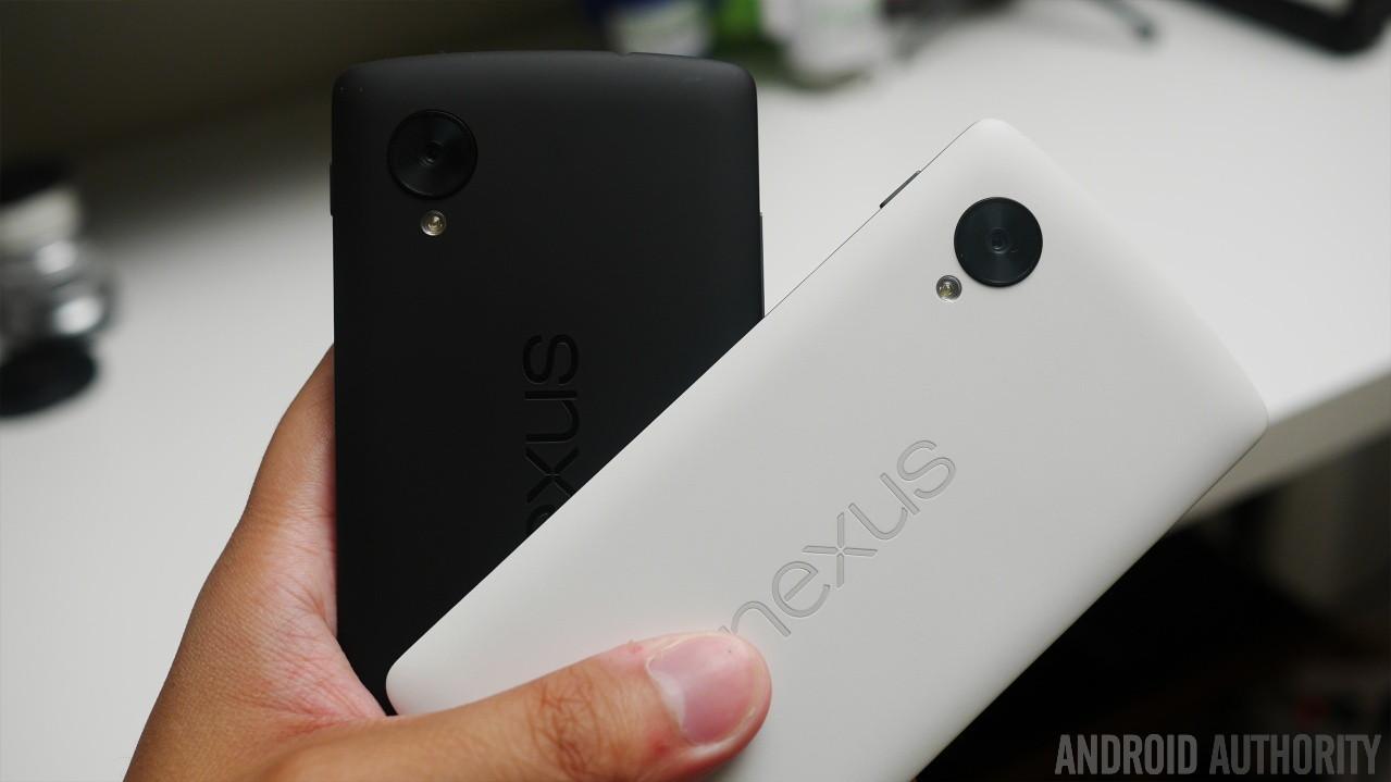 Google Nexus 5 black vs white aa 8