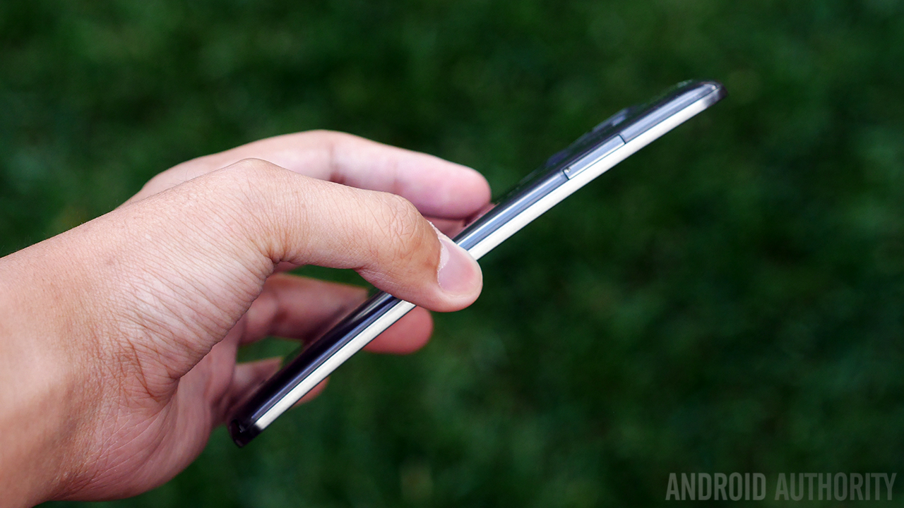 LG's G Flex design is curved from top to bottom.