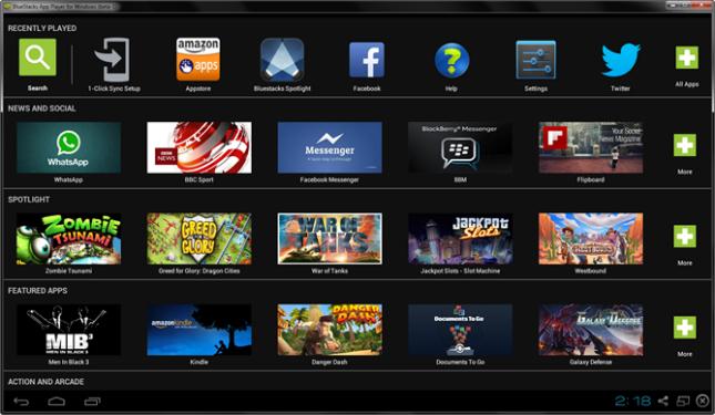 برنامج تشغيل تطبيقات الاندرويد على الكمبيوتر BlueStacks App Player 3.5
