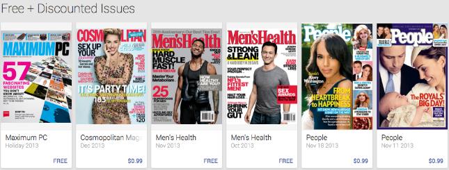 Google Play Store Newsstand
