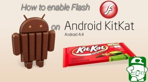 How to enable flash on Android 4.4 kitkat