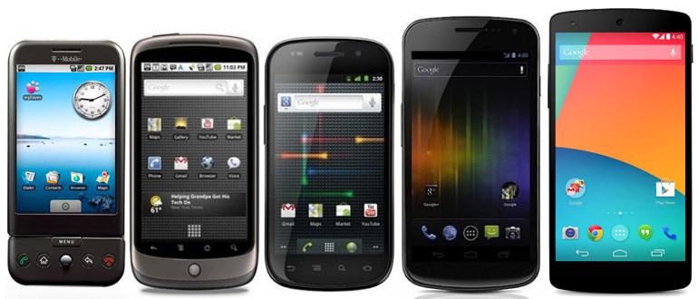 Evolution-Google-Smartphones Nexus 5 Nexus s Nexus one History