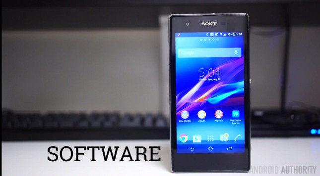 Sony Xperia Z1s Software Android 4.3