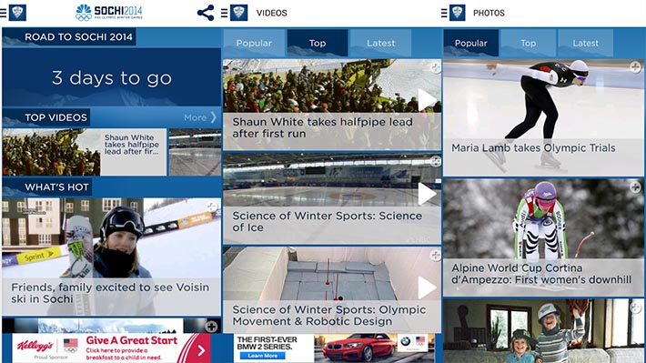 Android apps sochi 2014