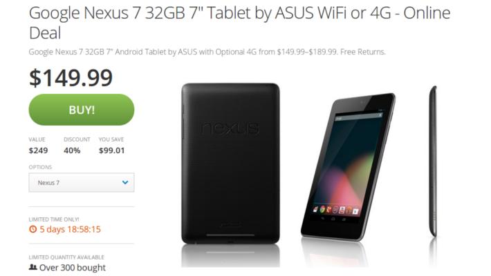 Nexus 7 2012 Groupon