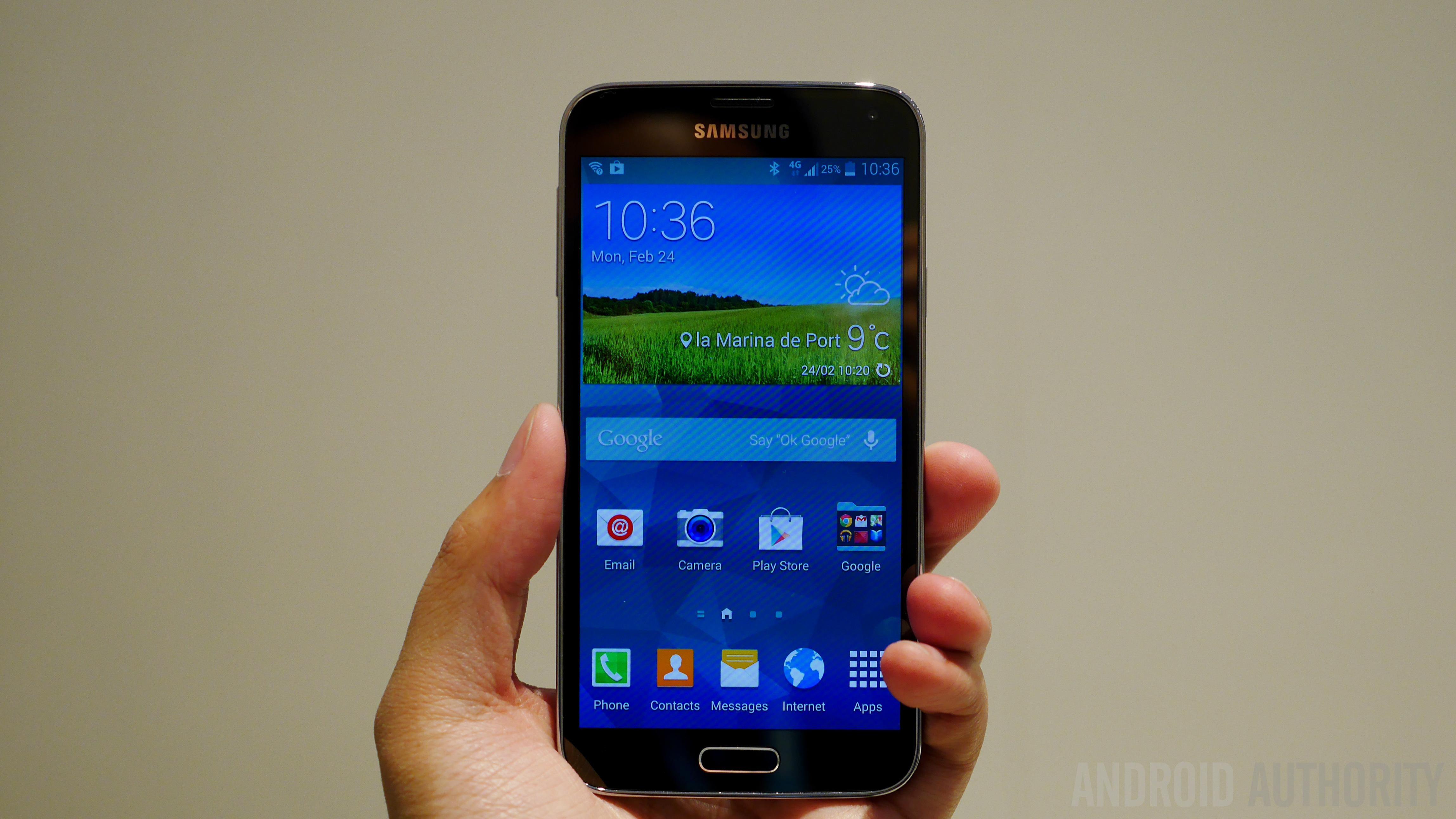 Samsung Galaxy S5 Hands on MWC 2014-1160049