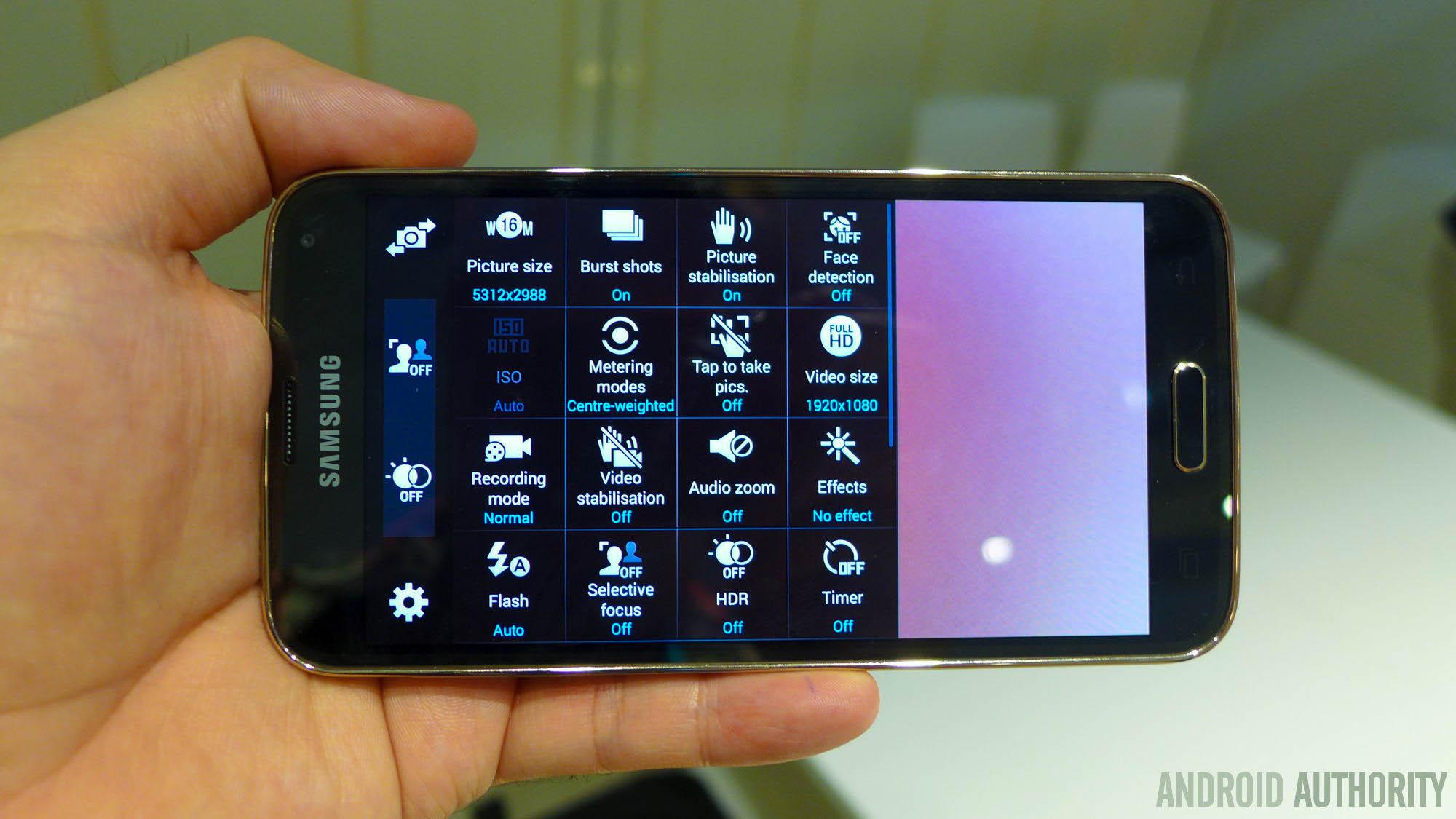 Samsung Galaxy S5 camera app aa 3