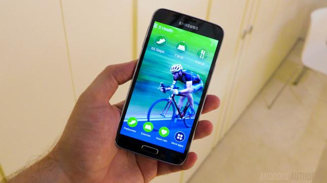 Samsung Galaxy S5 s health heart rate monitor 1