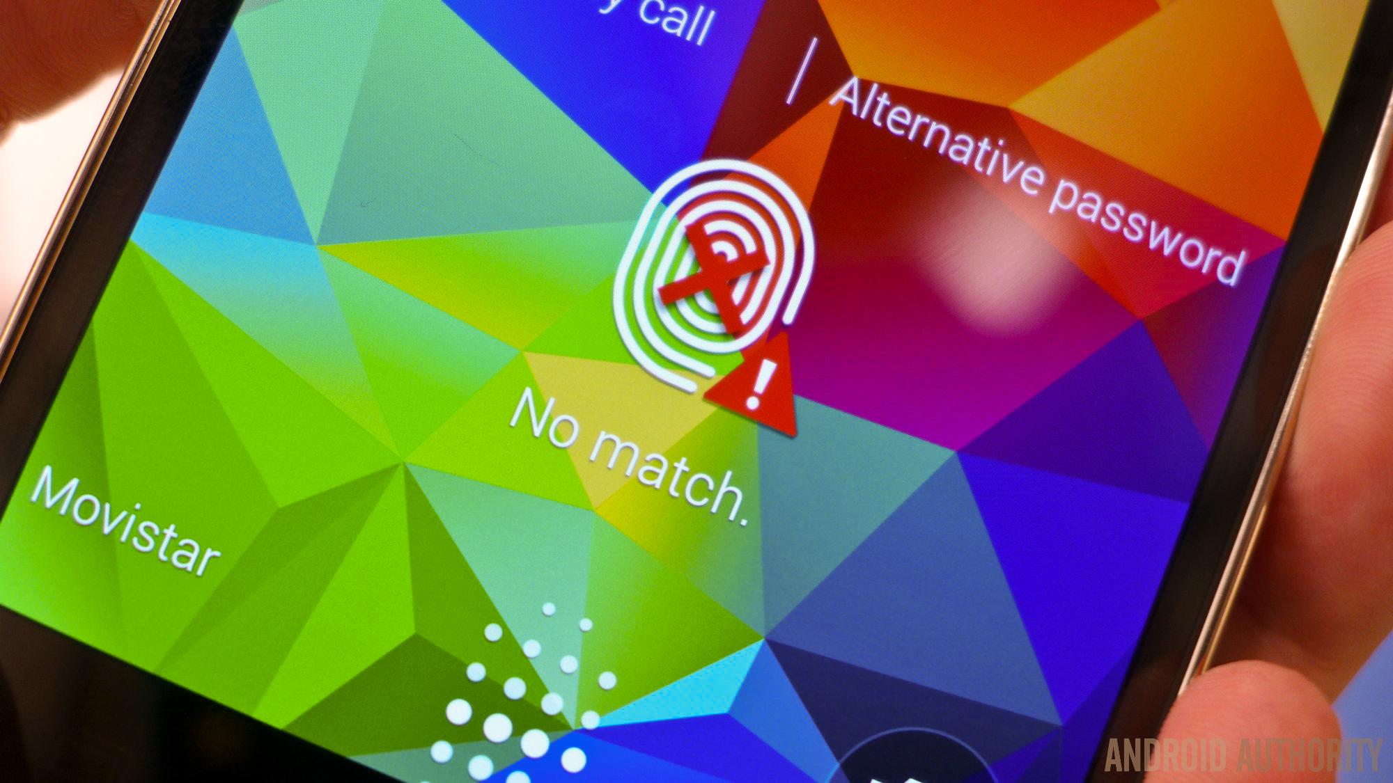 samsung galaxy s5 fingerprint sensor scanner security