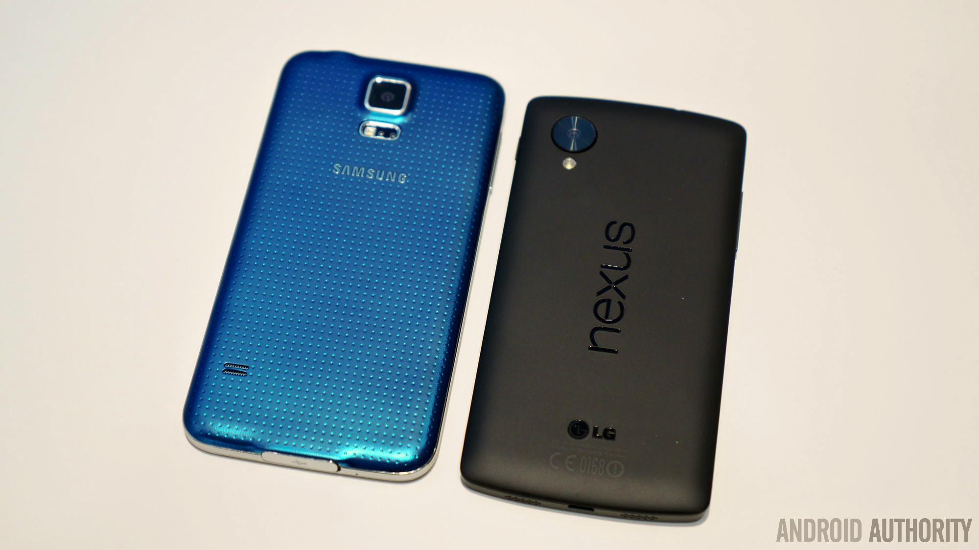 samsung galaxy s5 vs nexus 5 4