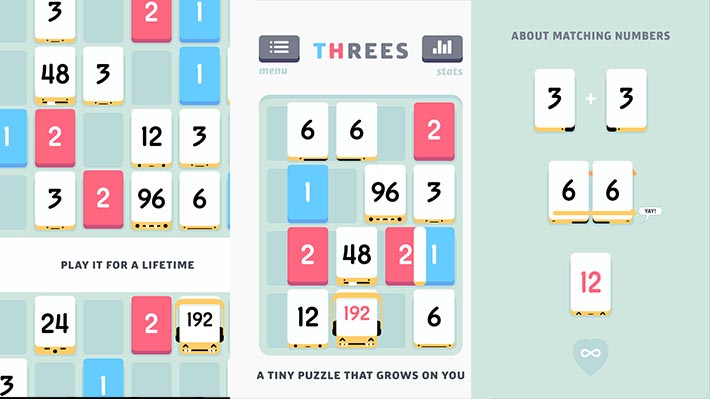 threes! Android apps
