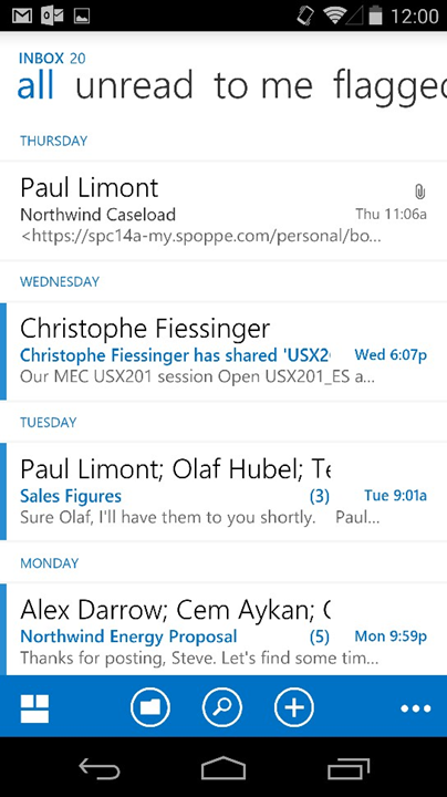Outlook Web App Android