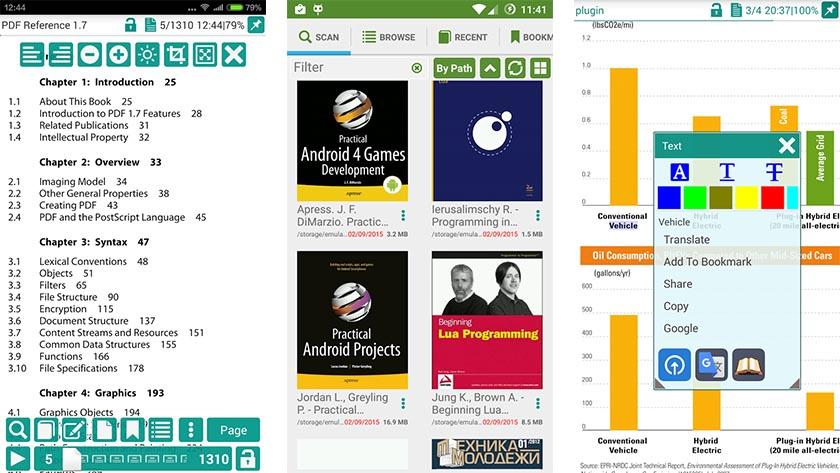 leitor de pdf para celular lg