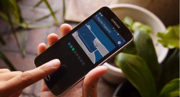 Samsung Galaxy S5 finger scanner