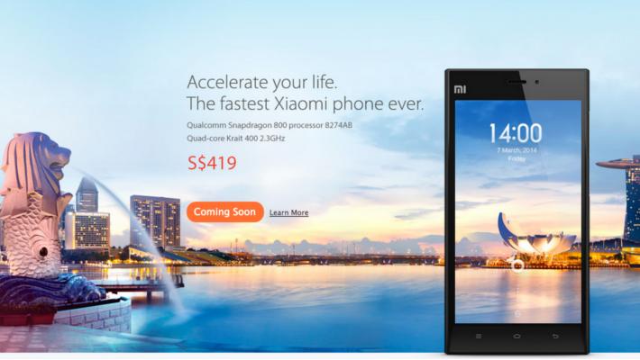 Xiaomi Mi3 Singapore Launch