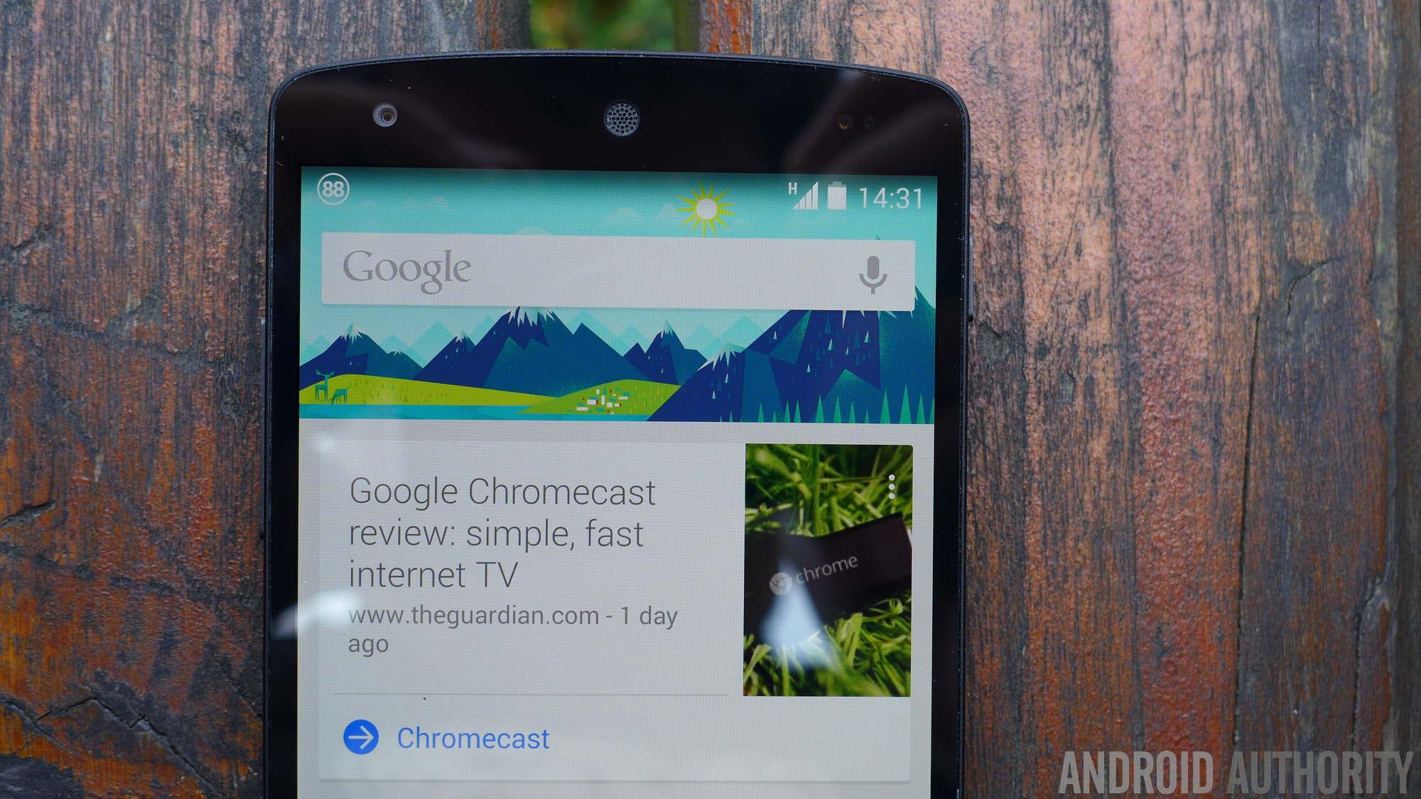 Google Now on Nexus 5 - Google failed products