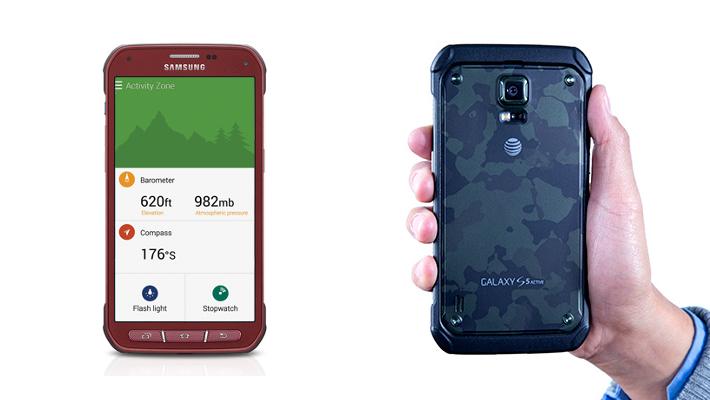 Galaxy S5 Active Activity Zone