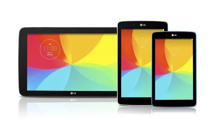 LG G Pad 7, 8, 10.1
