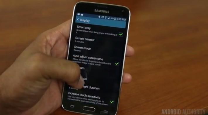 Samsung Galaxy S5 touch sensitivity
