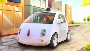 Google self-driving car concept