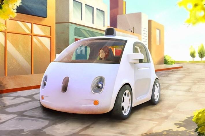 Google self-driving car concept