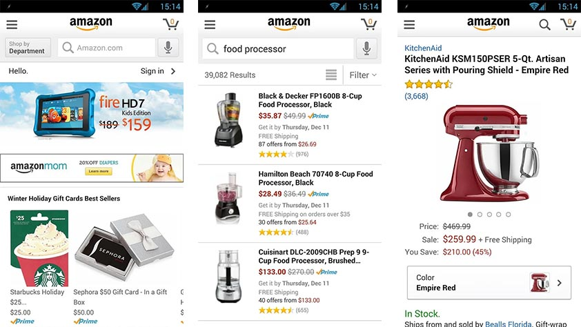 Amazon best shopping apps for android