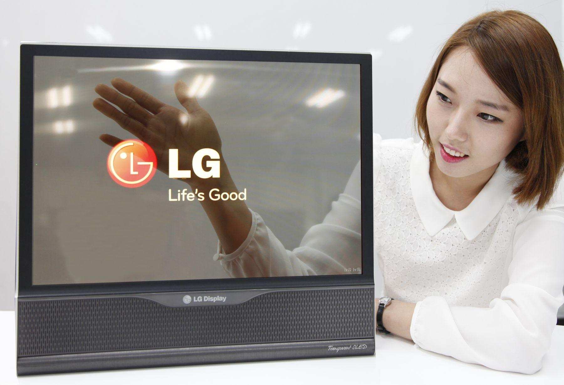 Transparent LG OLED