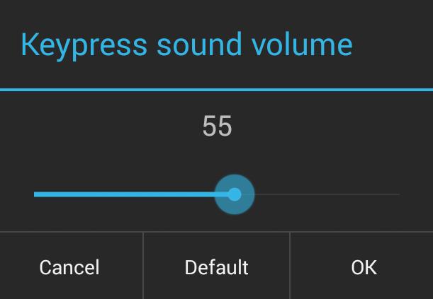 Advanced Keyboard settings Sound