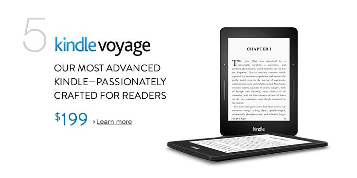 Amazon Kindle Voyage e-paper reader