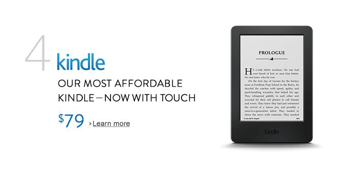 New Amazon Kindle touchscreen