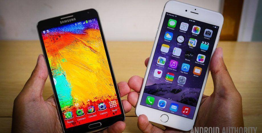 note 3 vs iphone 6 plus