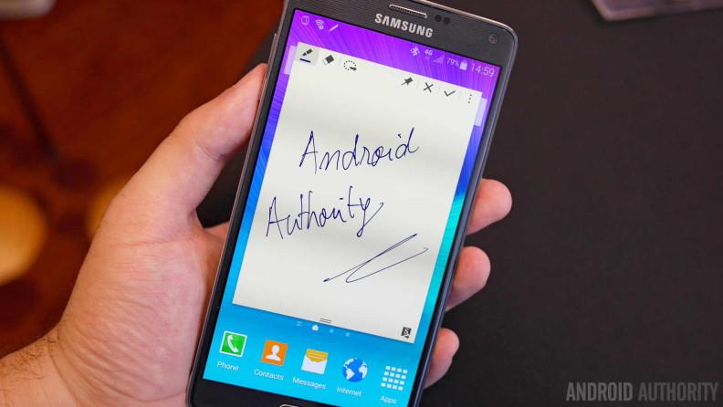 samsung galaxy note 4 s pen handwriting aa b 1