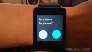 Android Wear Factory Reset