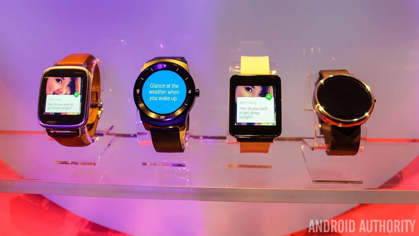 LG G Watch Sony Smartwatch 3 Moto 360 LG G Watch R Android Wear-6