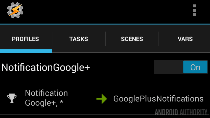 Tasker Profile Google Plus notifications