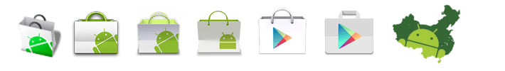 Chinese Google Play Store icons Android