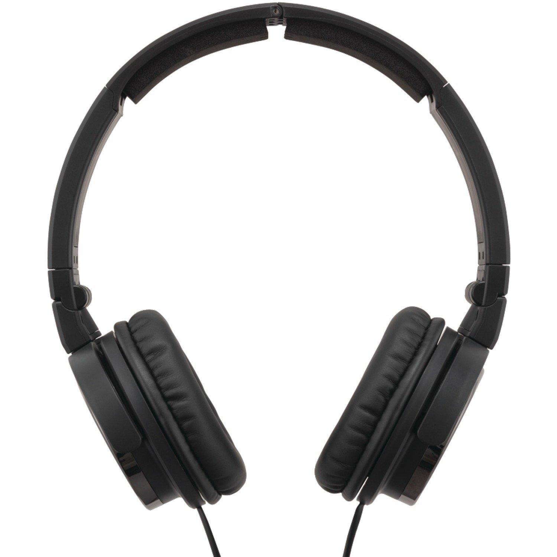 JVC HAS400B Carbon Nanotube On-Ear Headband Headphones