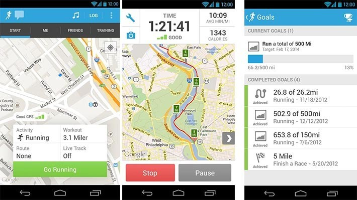 runkeeper best Android fitness apps and workout apps
