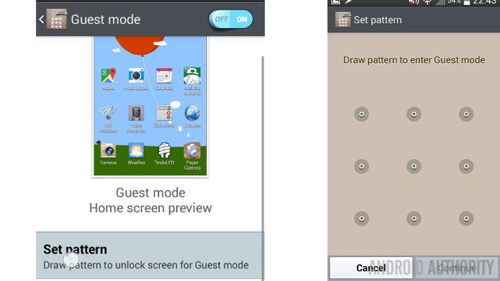 LG Guest Mode Set pattern