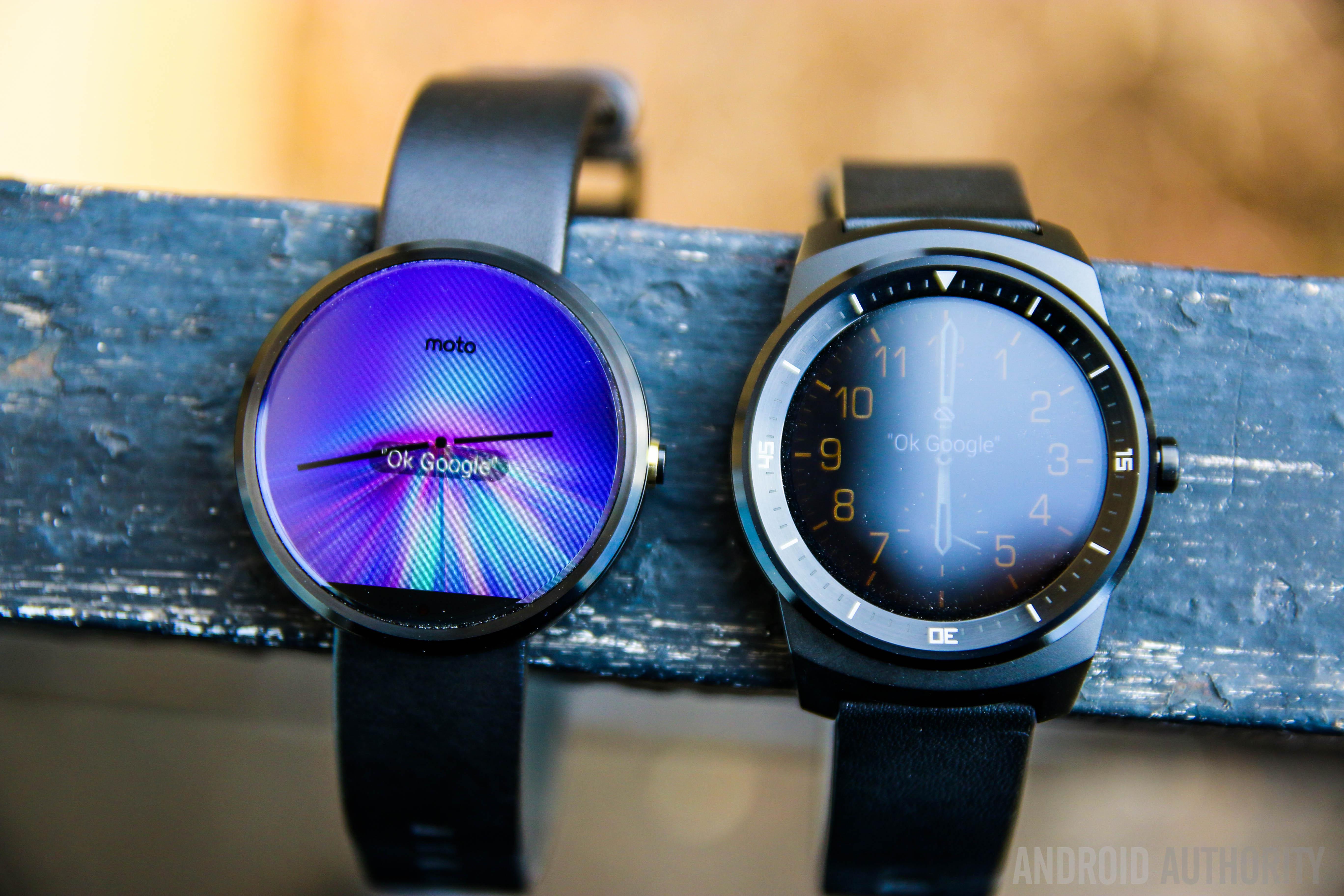 Moto 360 vs LG G Watch R-10