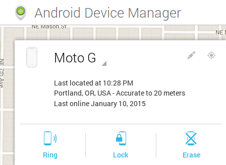 Android Device Manager tools