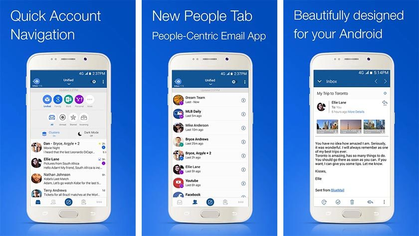 blue mail best email apps for Android