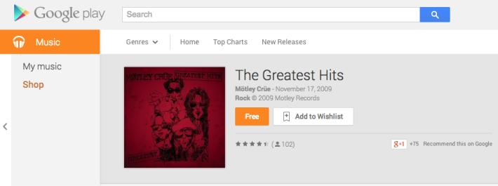 Mötley Crüe greatest hits