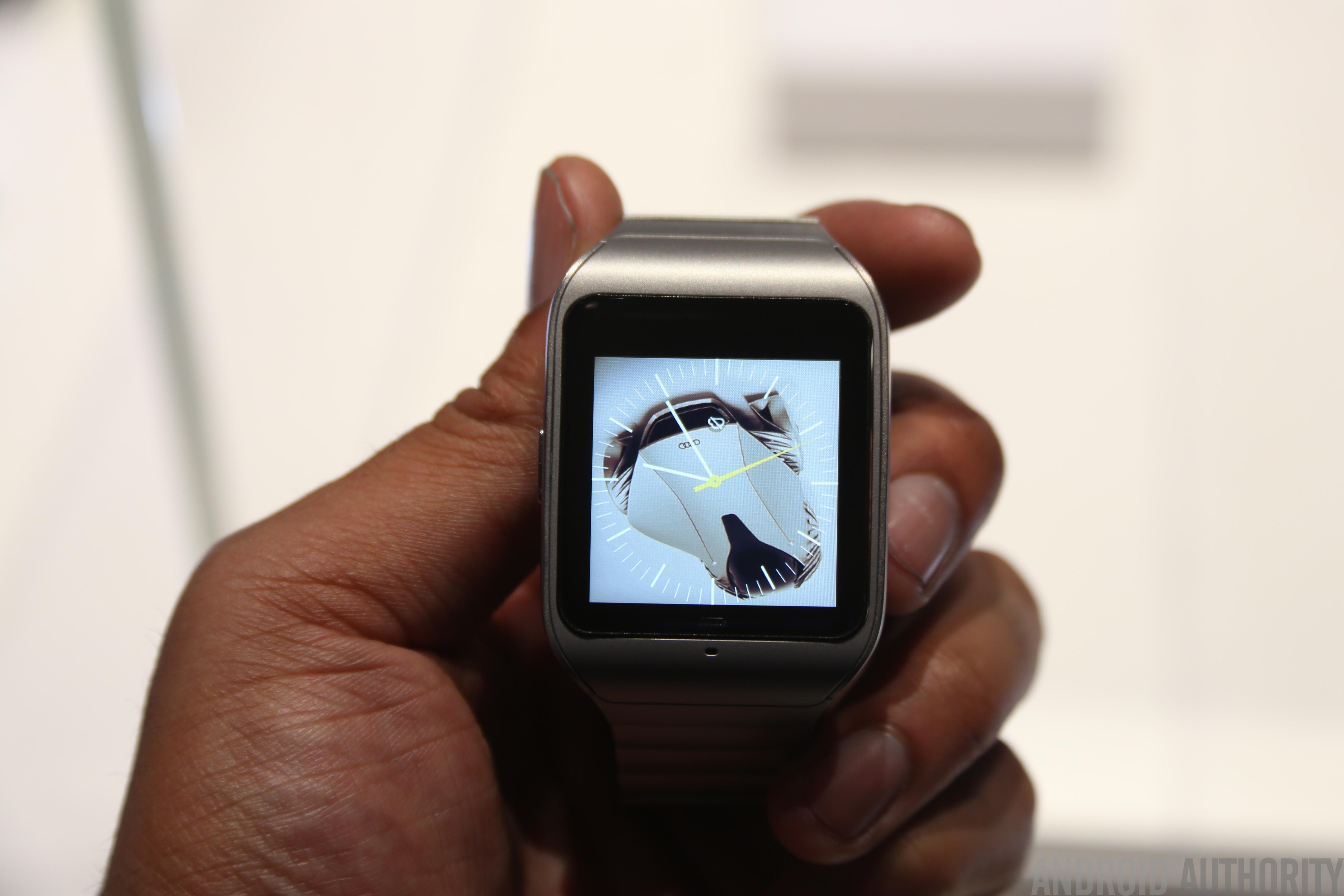 sony smartwatch 3 steel model hands on. Black Bedroom Furniture Sets. Home Design Ideas