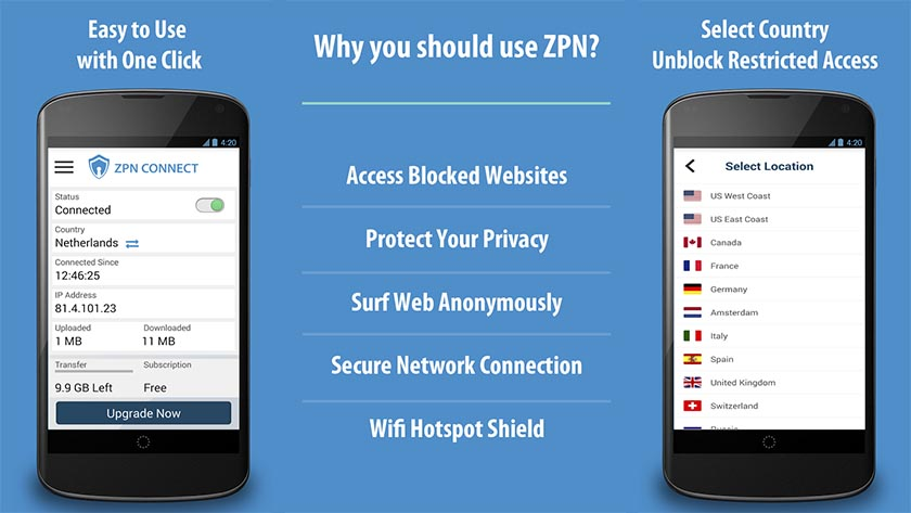 zpn best free VPN apps for android