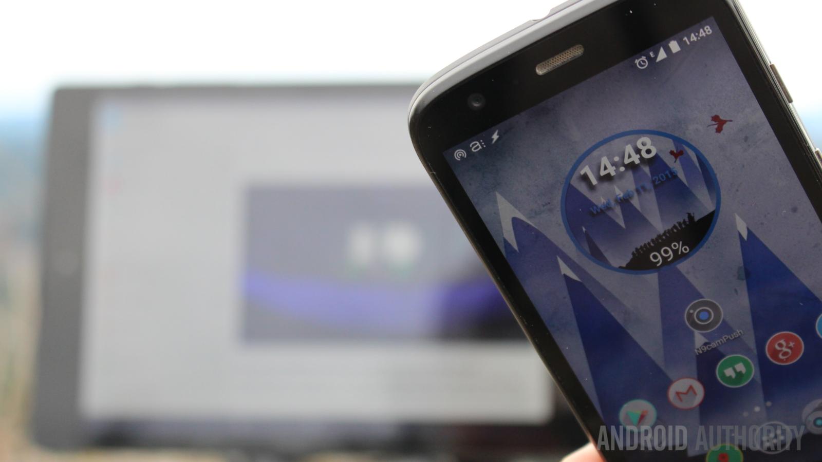 Moto G Tasker Pushbullet remote camera Nexus 9