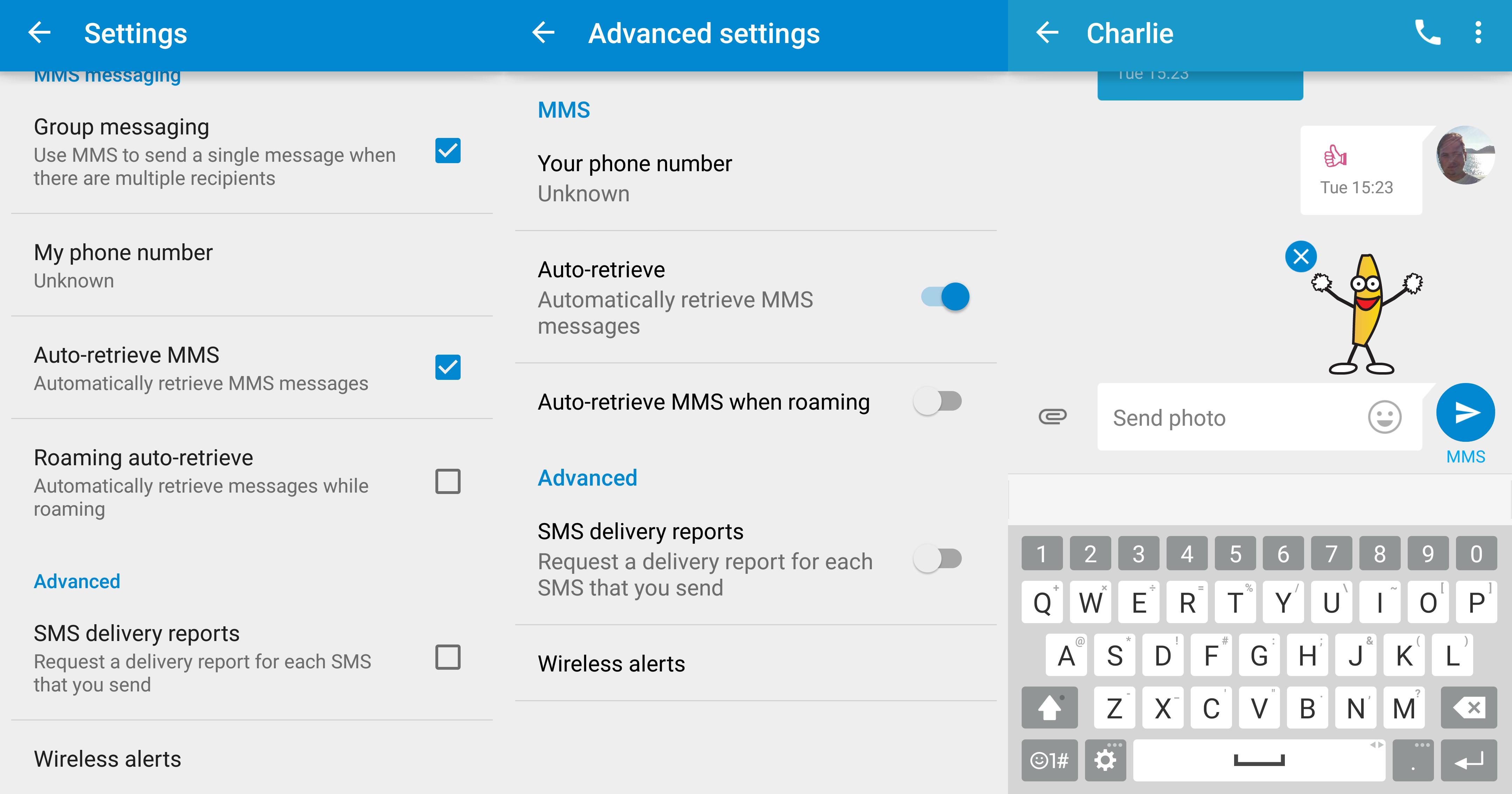 Google Messenger version 1-2