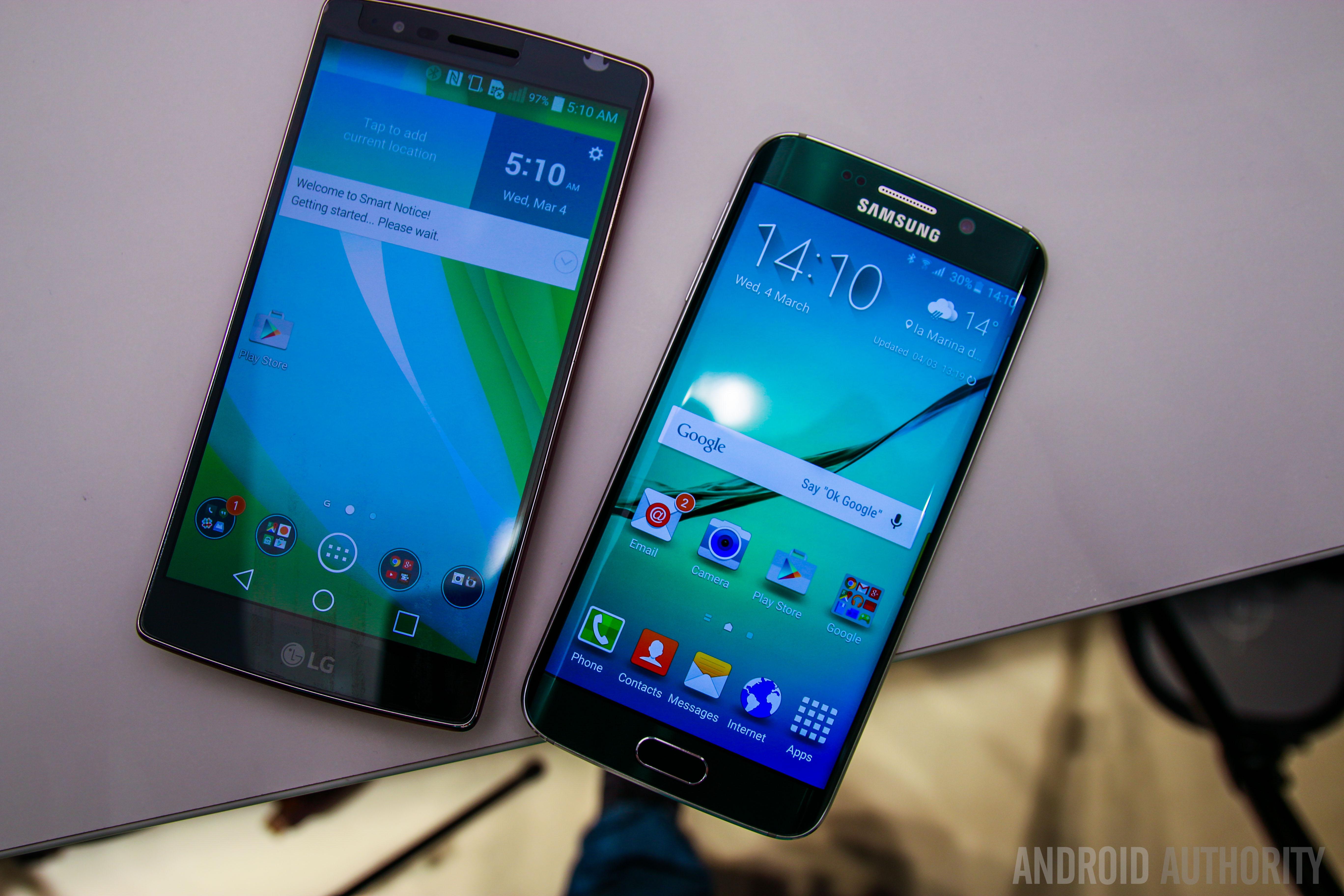 Samsung Galaxy S6 Edge VS LG GFlex 2-4