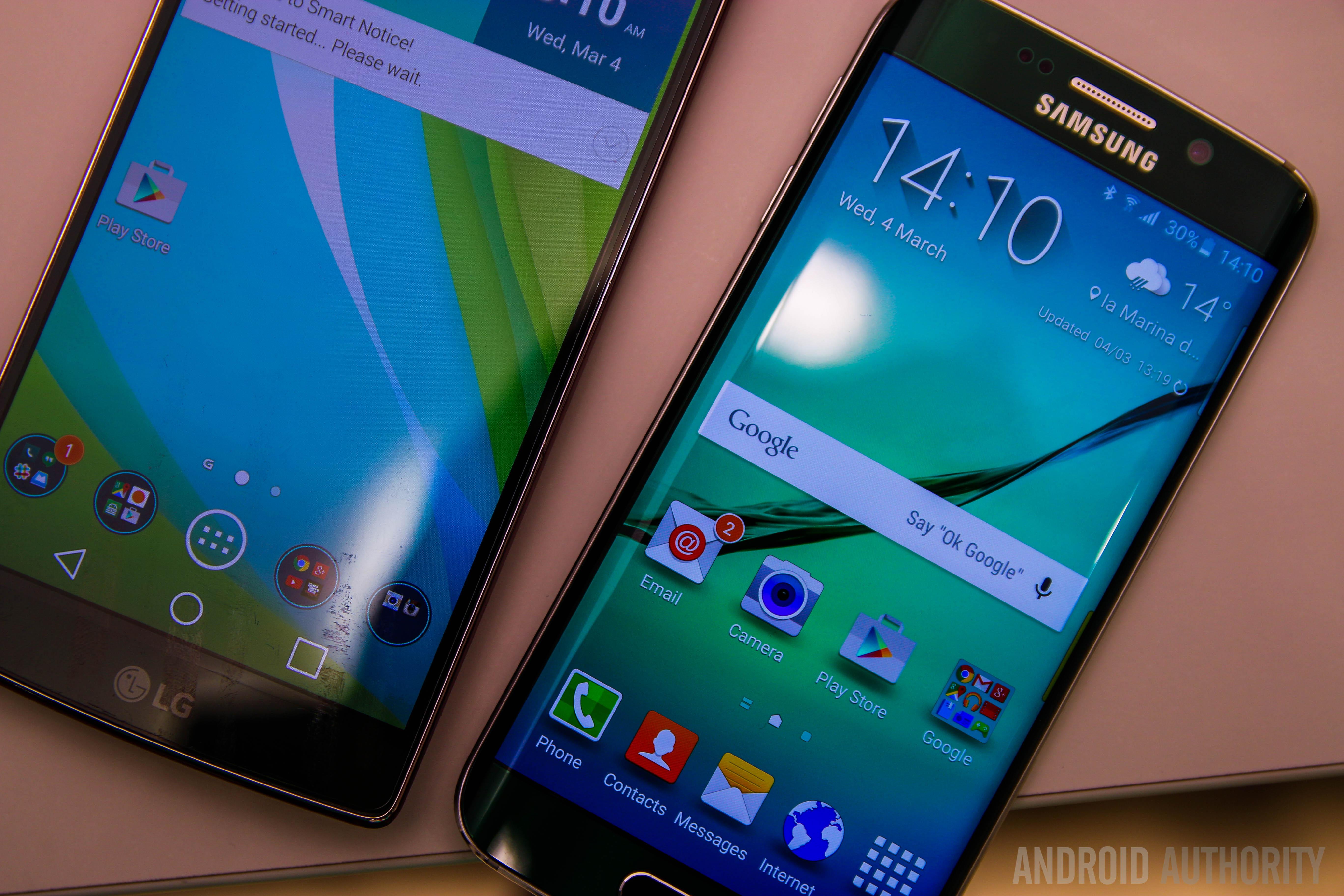 Samsung Galaxy S6 Edge VS LG GFlex 2-6