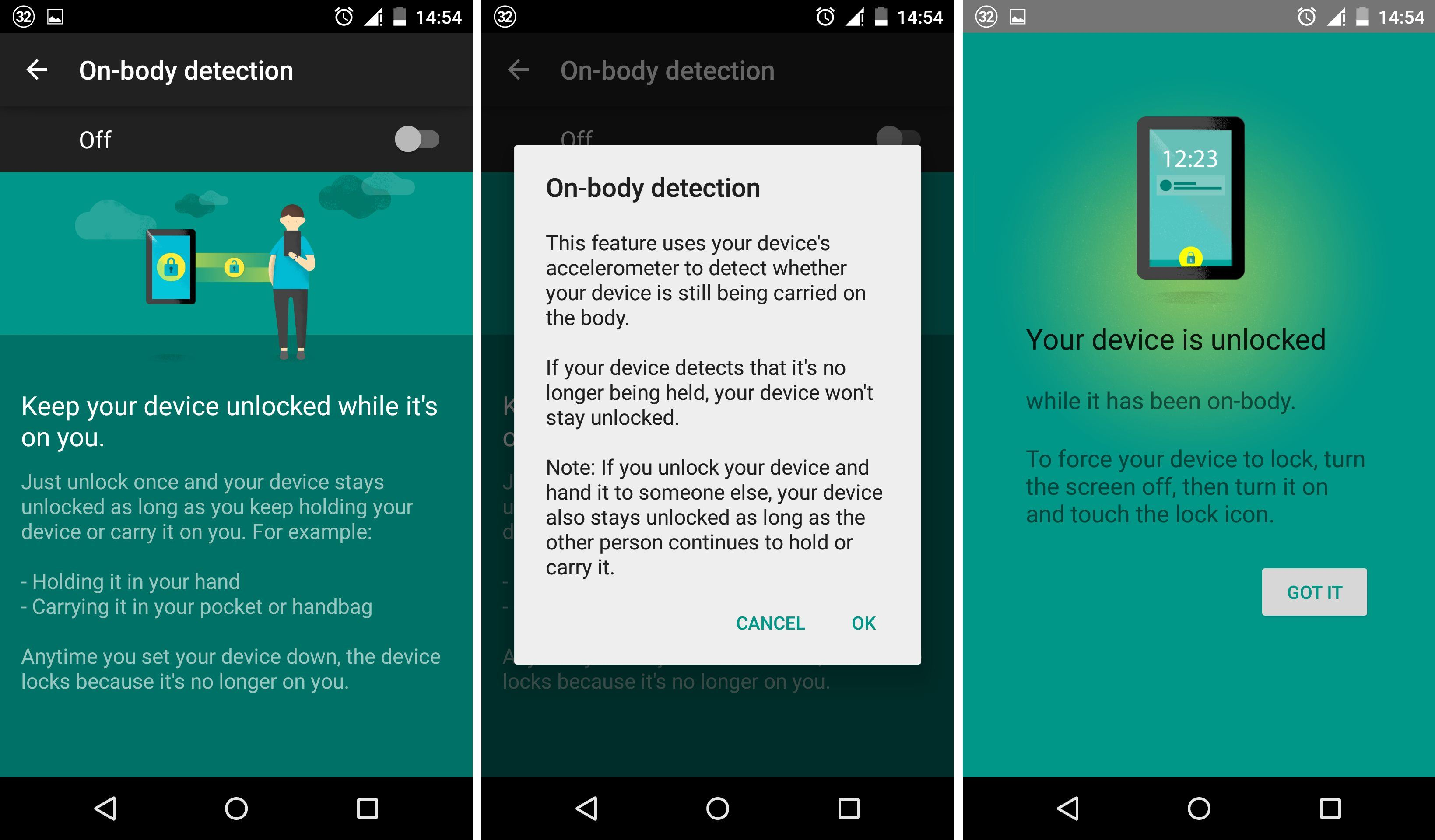on-body detection 1